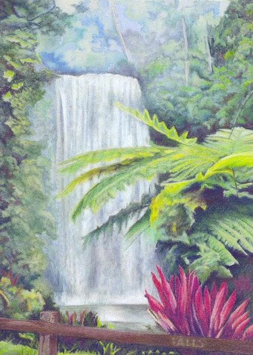 Australia Greeting Card featuring the painting Milla Milla Falls by Robynne Hardison