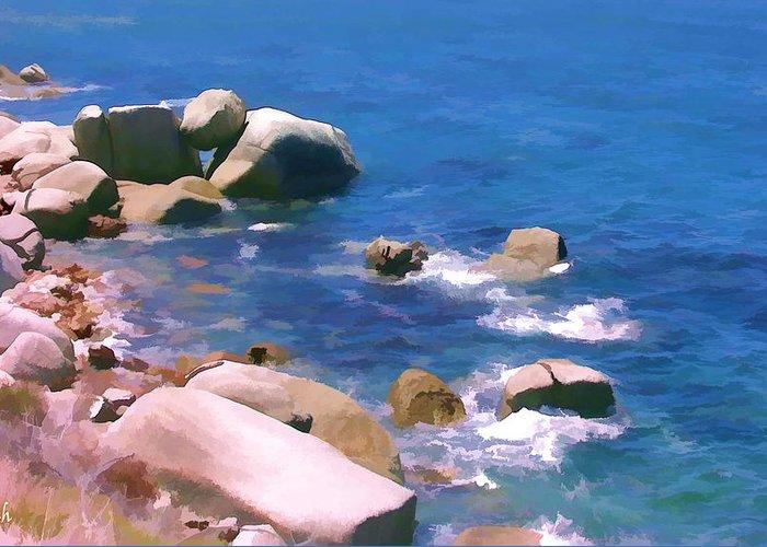 Sea Greeting Card featuring the digital art Miller by Jan Hattingh