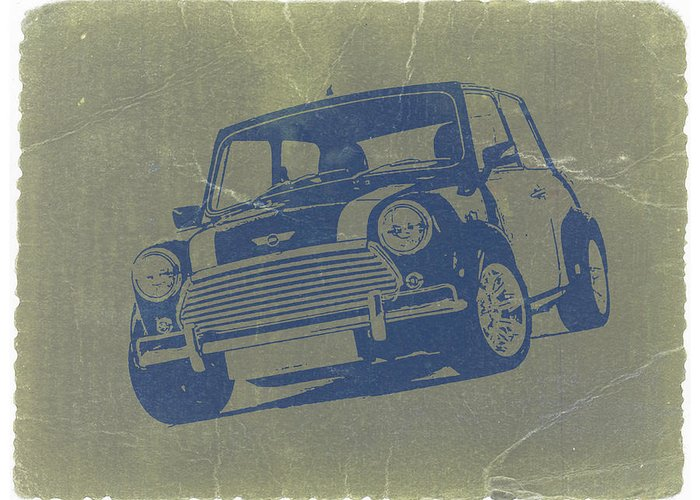 Mini Cooper Greeting Card featuring the photograph Mini Cooper by Naxart Studio