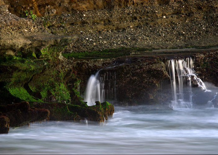 Landscape Greeting Card featuring the photograph Mini Falls Laguna Beach by Brad Scott
