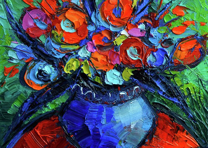 Burst Paintings Greeting Cards