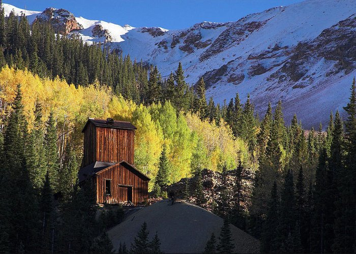 Colorado Greeting Card featuring the photograph Mining Ruins by Steve Stuller