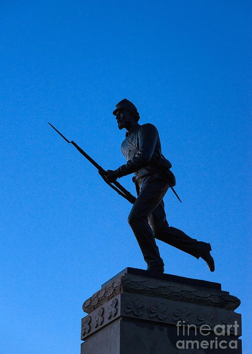 Adams County Greeting Card featuring the photograph Minnesota Soldier Monument At Gettysburg by John Greim