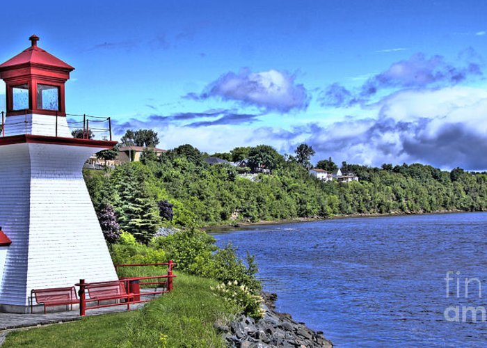 Miramichi Greeting Card featuring the photograph Miramichi Lighthouse by Levin Rodriguez