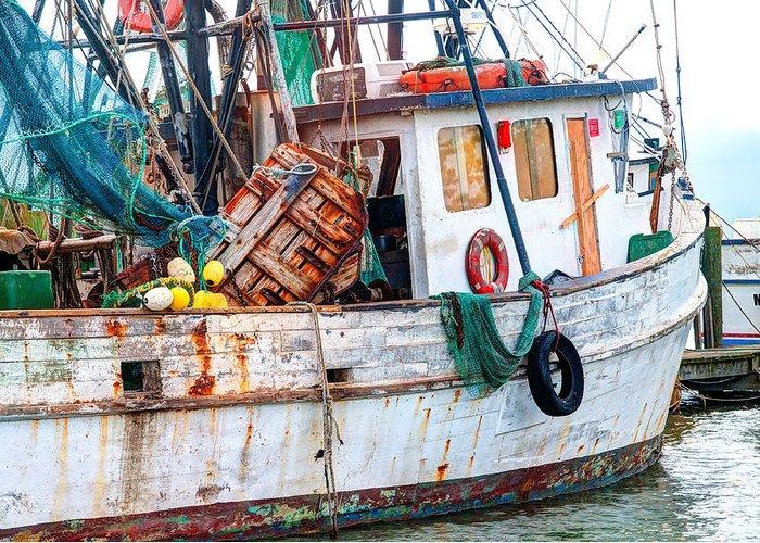 Shrimpboats Greeting Cards