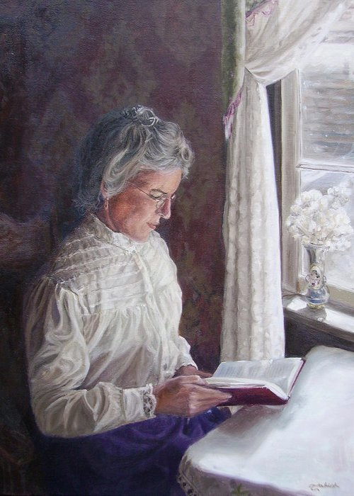 Barkerville Greeting Card featuring the painting Miss Wendle-Barkerville by Tahirih Goffic