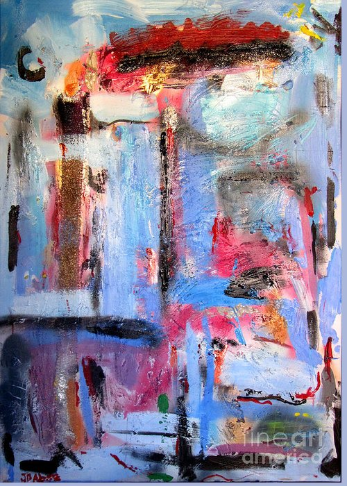 Abstract Greeting Card featuring the painting Misshapes by David Abse