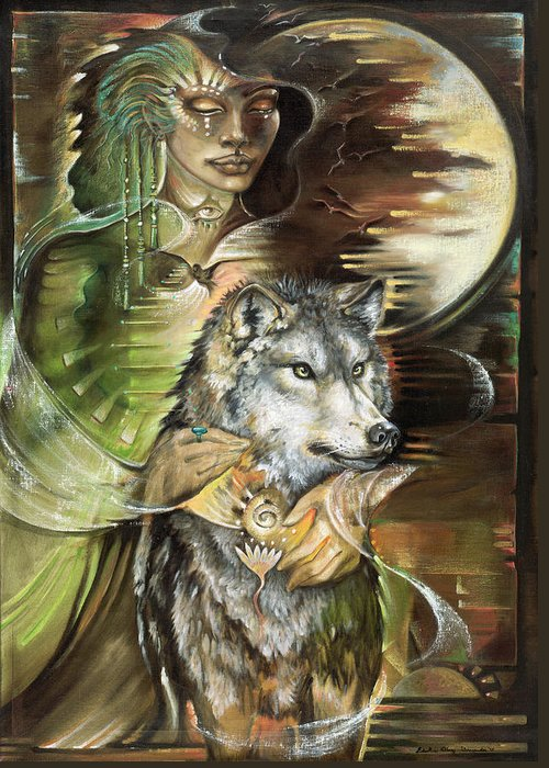 Animals Greeting Card featuring the painting Missing You Susan Boulet by Blaze Warrender