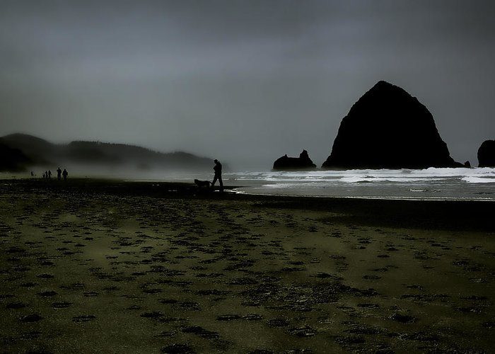 Ccannon Beach Greeting Card featuring the photograph Mist At Cannon Beach by David Patterson