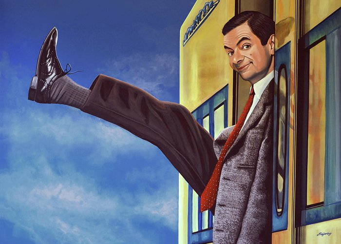 Mister Bean Greeting Card featuring the painting Mister Bean by Paul Meijering