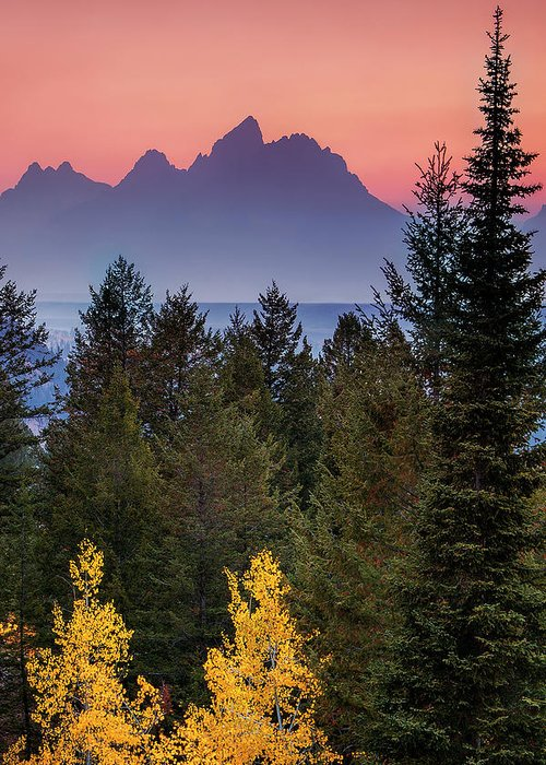 Mountain Greeting Card featuring the photograph Misty Mountain Sunset by Andrew Soundarajan