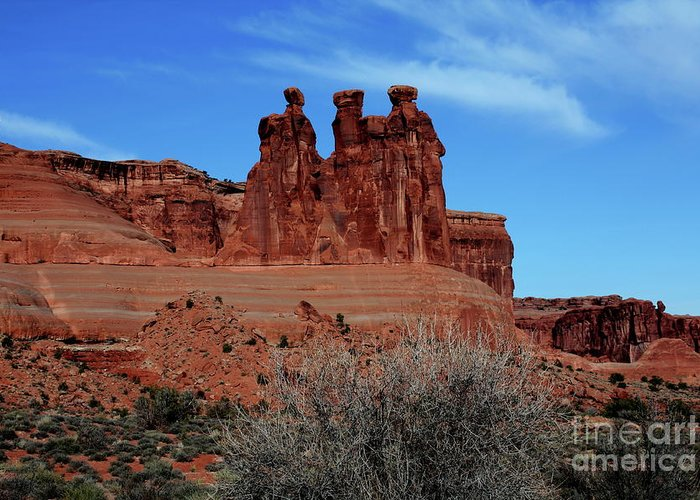 Moab Greeting Card featuring the photograph Moab by Edward R Wisell