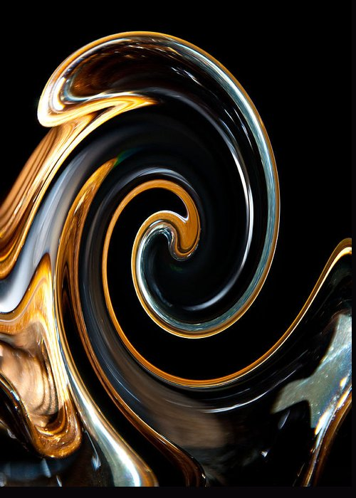 Abstract Greeting Card featuring the photograph Mocha Swirl by Dana Kern