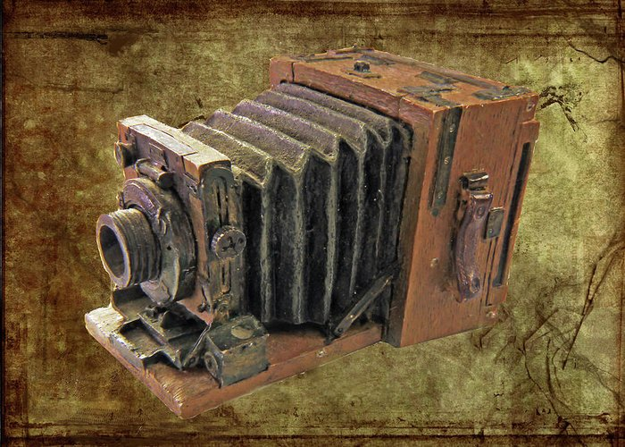 Bellows Greeting Card featuring the photograph Model Vintage Field Camera by Kenneth William Caleno