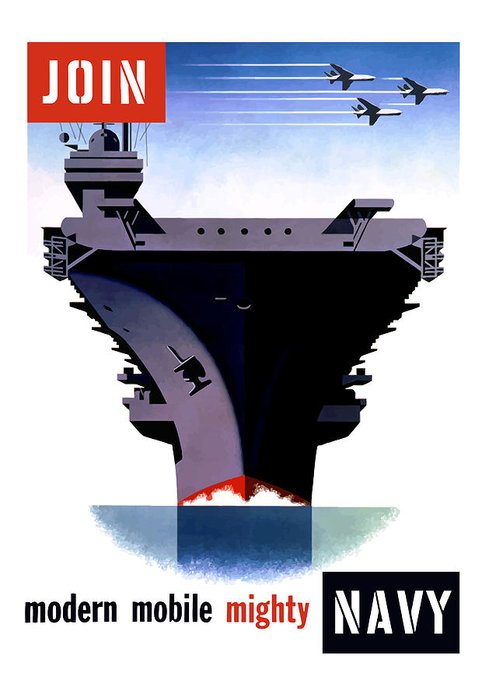 Ww2 Greeting Card featuring the painting Modern Mobile Mighty Navy by War Is Hell Store