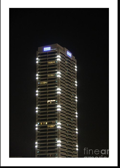 Skyscraper Greeting Card featuring the photograph Modern Skyscraper by Hussein Kefel