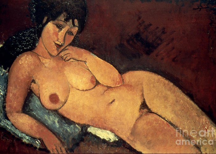 1917 Greeting Card featuring the photograph Modigliani: Nude, 1917 by Granger