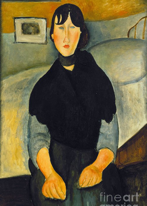 1918 Greeting Card featuring the photograph Modigliani: Woman, 1918 by Granger