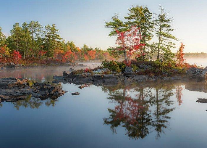 Molega Lake Greeting Card featuring the photograph Molega Lake, Nova Scotia by Cenwyn Jones