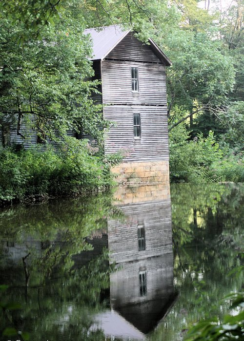 Mollohan Mill Greeting Card featuring the photograph Mollohan Mill 3 by Carolyn Postelwait