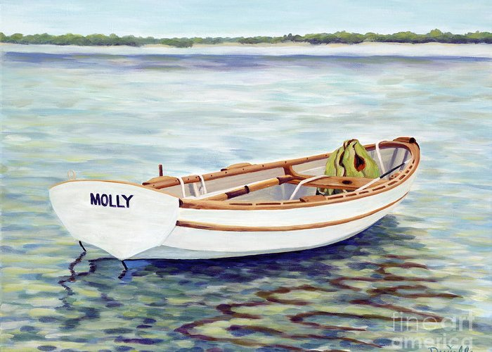 Molly Greeting Card featuring the painting Molly by Danielle Perry