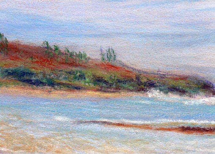 Coastal Decor Greeting Card featuring the painting Moloa'a Beach by Kenneth Grzesik