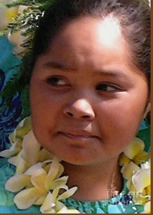 Hawaii Greeting Card featuring the photograph Molokai Kaikamahine by James Temple