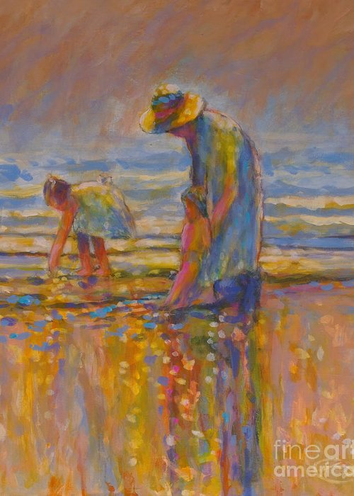 Children Greeting Card featuring the painting Mom by Kip Decker