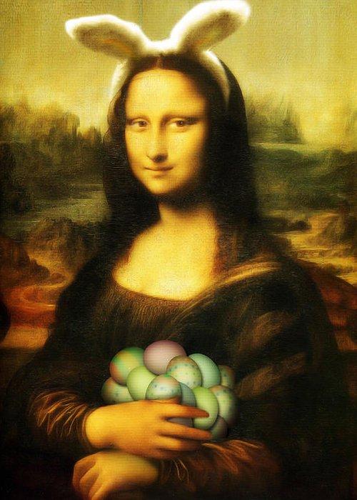 Mona Lisa Greeting Cards