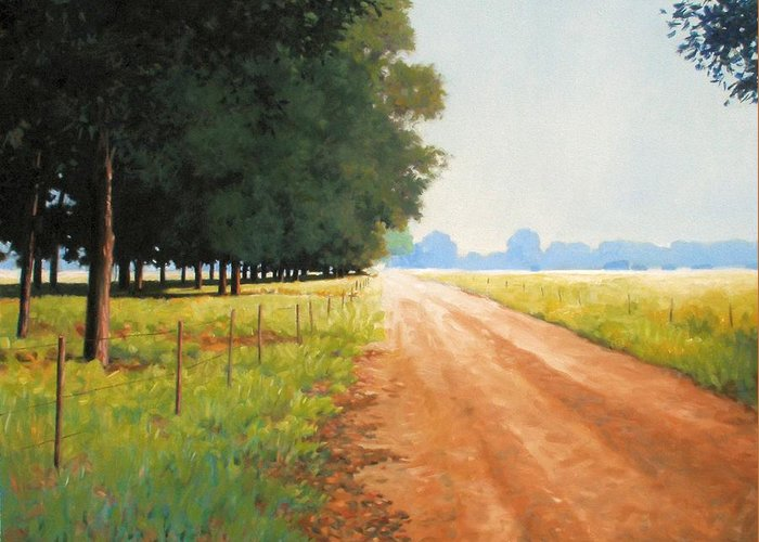 Landscape Greeting Card featuring the painting Monday Morning by Kevin Lawrence Leveque