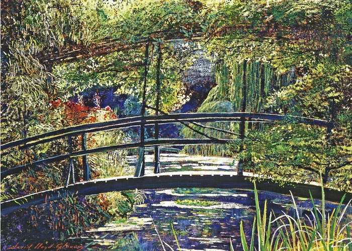 Impressionism Greeting Card featuring the painting Monet by David Lloyd Glover