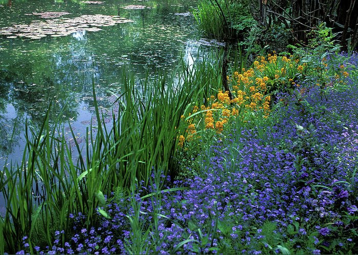Giverny Greeting Card featuring the photograph Monet's Lily Pond by Kathy Yates