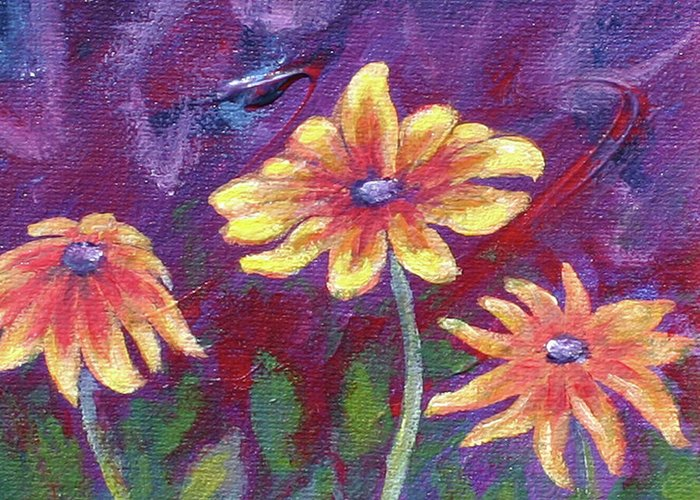 Small Acrylic Painting Greeting Card featuring the painting Monet's Small Composition by Jennifer McDuffie