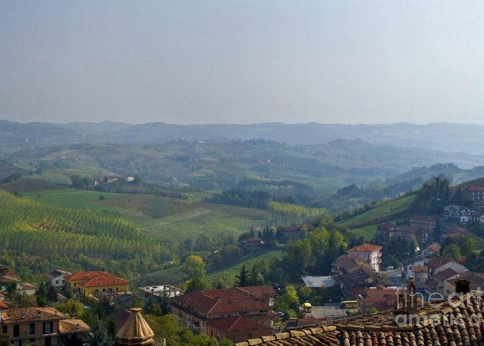 Landscape Greeting Card featuring the photograph Monforte - Regione Peimonte by Carl Jackson