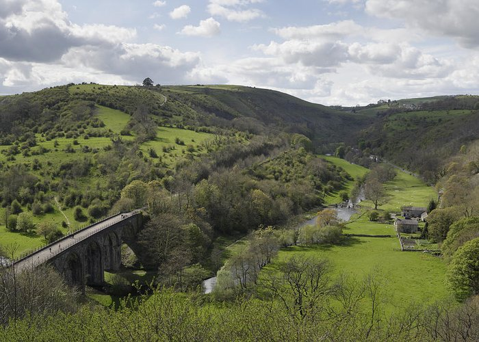 Monsal Dale Greeting Card featuring the photograph Monsal Head by Kevin Round