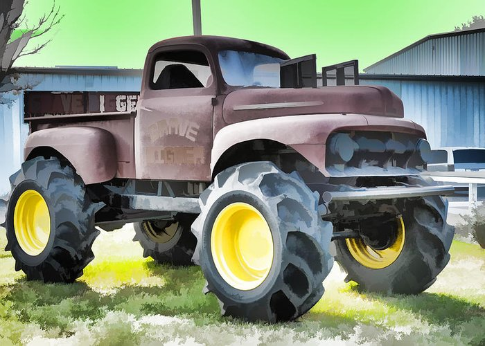 Monster Truck Grave Digger 3 Greeting Card For Sale By Jeelan Clark