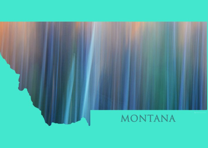 Montana Greeting Card featuring the photograph Montana In Pastel by Whispering Peaks Photography