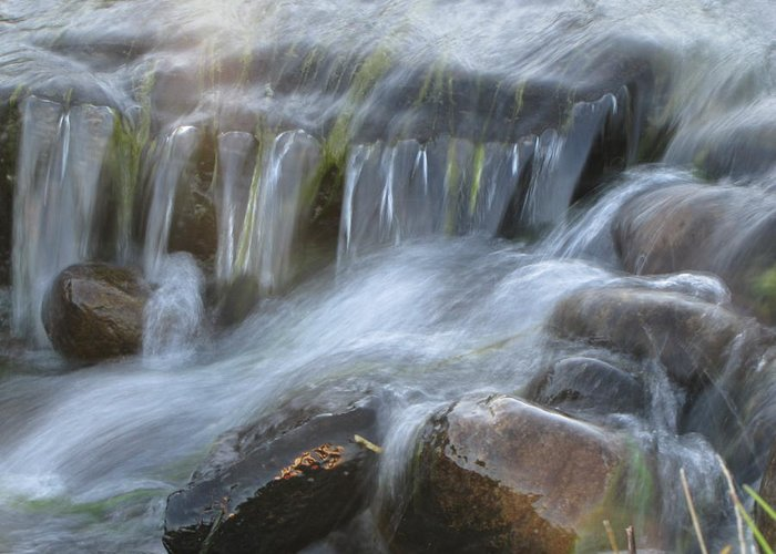 Water Greeting Card featuring the photograph Montana Waterfall by Kristy Marsich