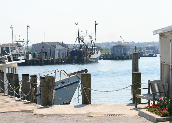 Montauk Greeting Card featuring the photograph Montauk Harbor by Christopher Kirby