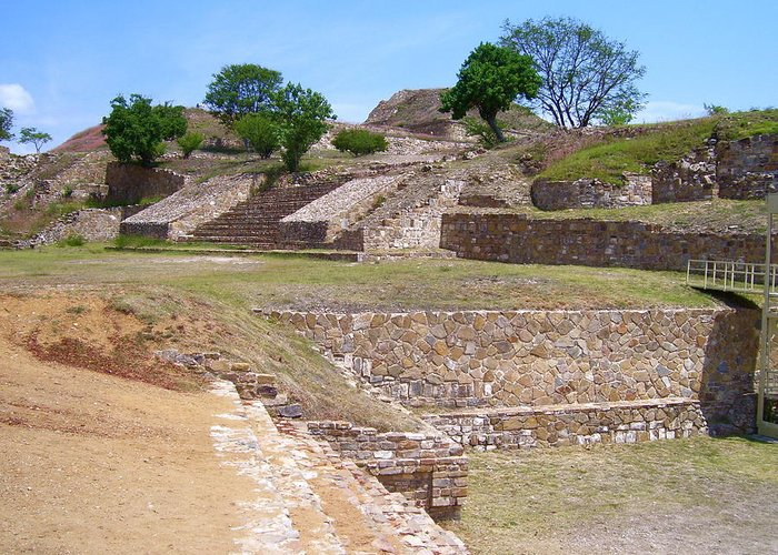 Monte Alban Greeting Card featuring the photograph Monte Alban 3 by Michael Peychich