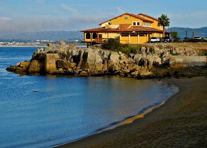 Monterey Bay Restaurant Greeting Card featuring the photograph Monterey Bay Restaurant by Kirsten Giving
