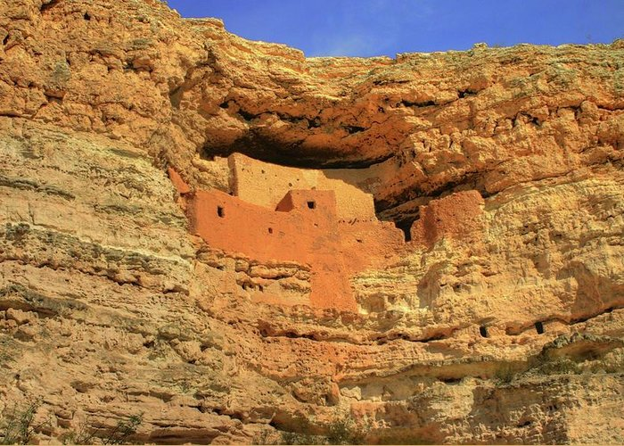 Monuments Greeting Card featuring the photograph Montezuma Castle National Monument by Ron Copeland
