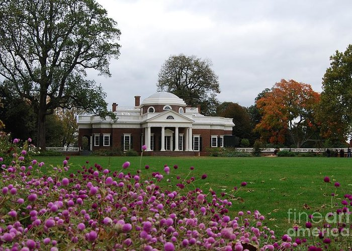 Fall Greeting Card featuring the photograph Monticello by Eric Liller