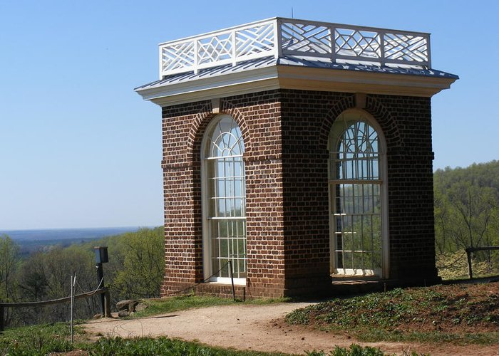 Monticello Greeting Card featuring the photograph Monticello's Overlook by James and Vickie Rankin