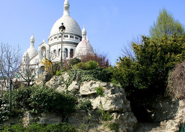 Montmartre Greeting Card featuring the photograph Montmartre by Hans Jankowski