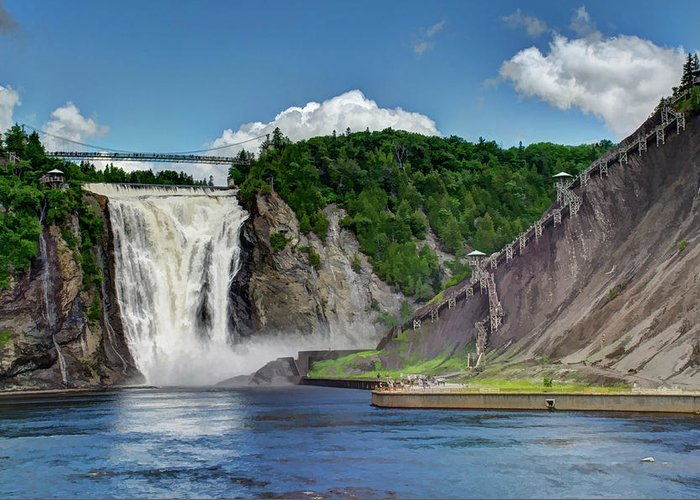 Quebec Greeting Card featuring the photograph Montmorency Falls by Dave Thompsen