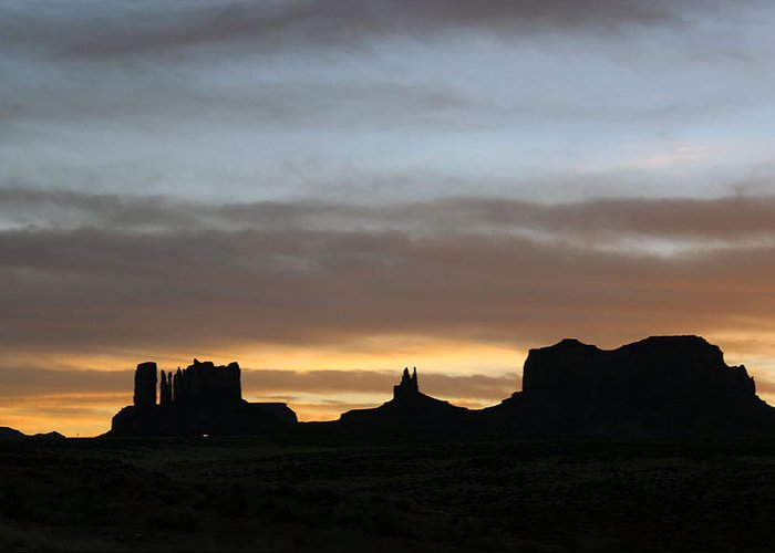 New Mexico Greeting Card featuring the photograph Monument Valley by Samantha Burrow