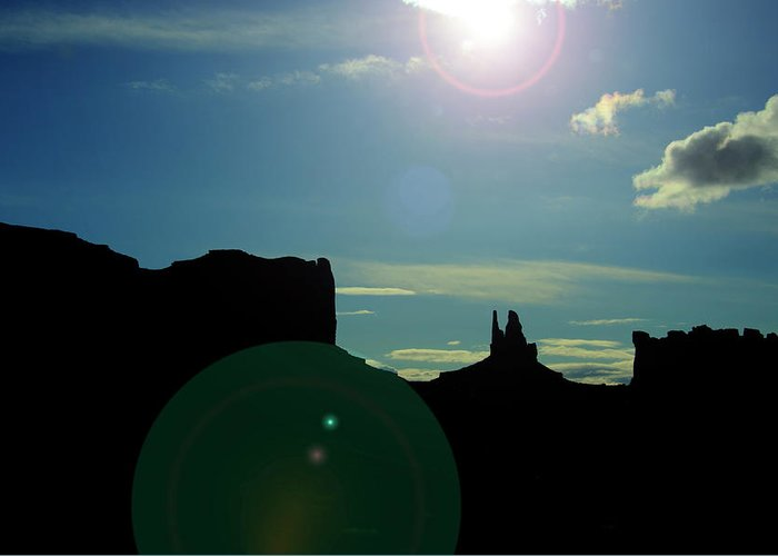 Monument Valley Greeting Card featuring the photograph Monument Valley silhouette by Roy Nierdieck
