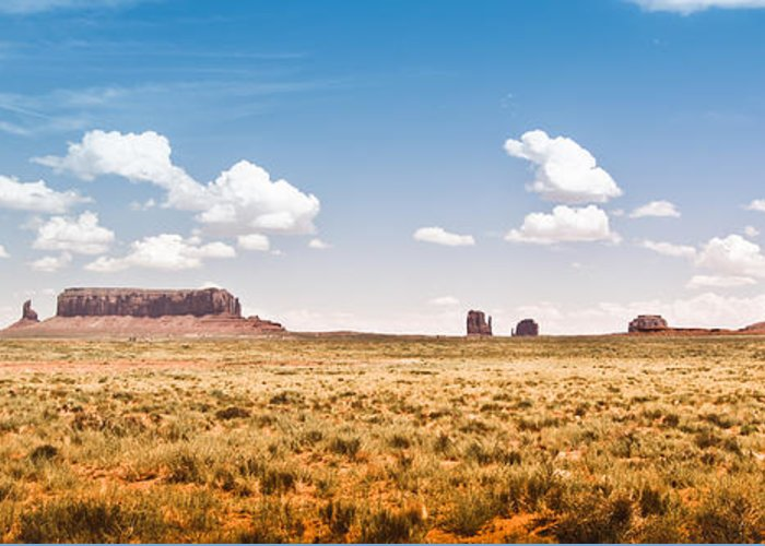 ryankellyphotography@gmail.com Greeting Card featuring the photograph Monument Valley Wide Angle by Ryan Kelly