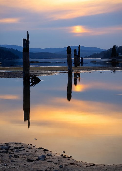 Moody Greeting Card featuring the photograph Mood On The Bay by Idaho Scenic Images Linda Lantzy